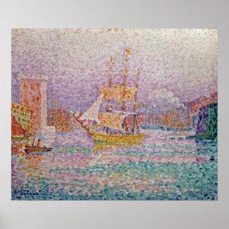 Harbour at Marseilles, c.1906 Poster