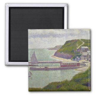 Harbour at Port-en-Bessin at High Tide, 1888 2 Inch Square Magnet