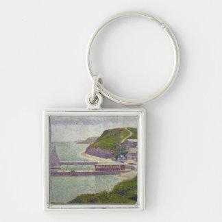 Harbour at Port-en-Bessin at High Tide, 1888 Key Chain