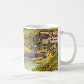Harbour at Port-en-Bessin at High Tide by Seurat Classic White Coffee Mug