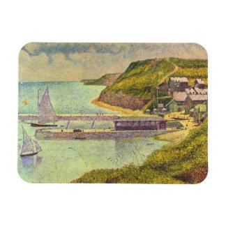Harbour at Port-en-Bessin at High Tide by Seurat Magnet