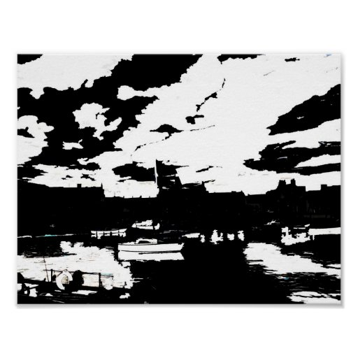 Harbour at Stonehaven, Scotland Poster