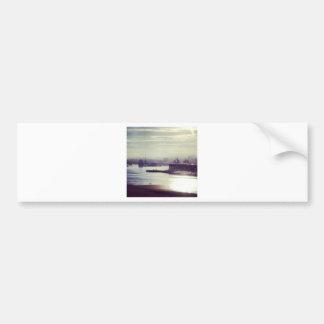 Harbour at twilight bumper sticker