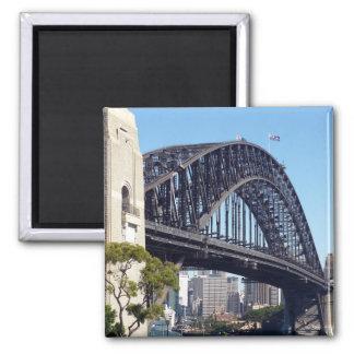 harbour bridge 2 inch square magnet