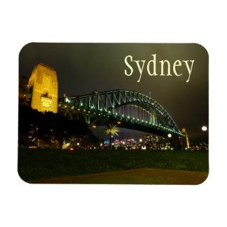 Harbour Bridge at Night, Sydney, Australia Rectangular Photo Magnet
