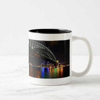 Harbour bridge Two-Tone coffee mug