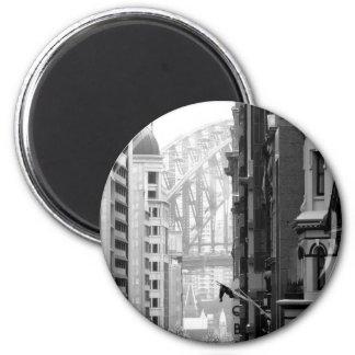 Harbour Bridge View 1 2 Inch Round Magnet
