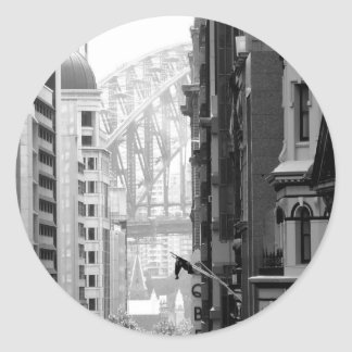 Harbour Bridge View 1 Classic Round Sticker