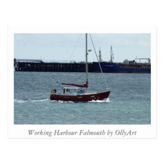 Harbour Falmouth by OllyArt Photography Postcard