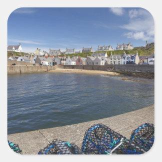 Harbour, Findochty, Moray, Scotland, United Square Sticker