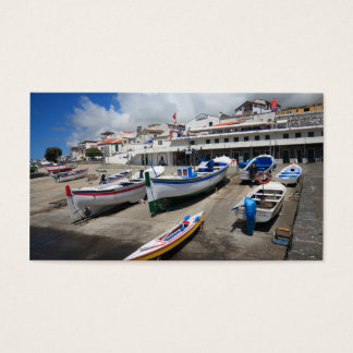 Harbour in Azores Business Card