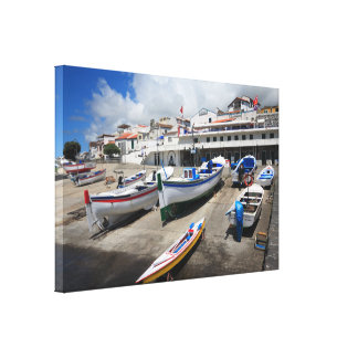 Harbour in Azores Canvas Prints