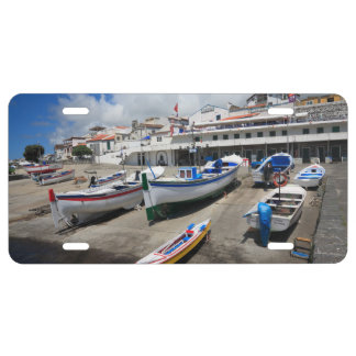 Harbour in Azores License Plate