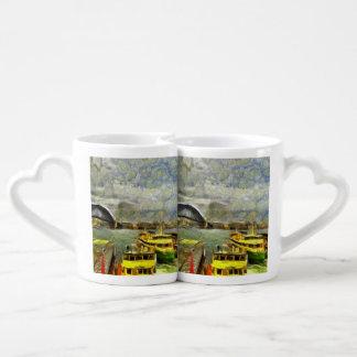 Harbour in Sydney Couples' Coffee Mug Set