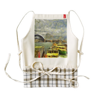 Harbour in Sydney Zazzle HEART Apron