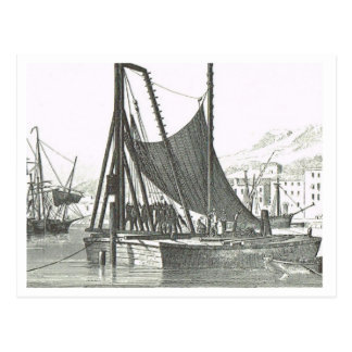 Harbour installations  1800s postcard