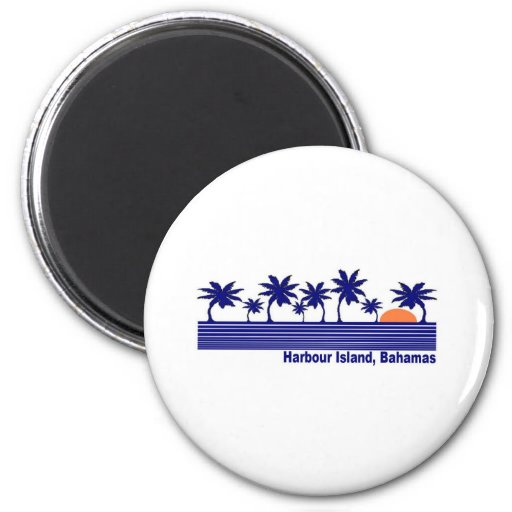 Harbour Island, Bahamas 2 Inch Round Magnet