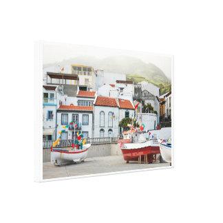 Harbour of Vila Franca do Campo Canvas Print