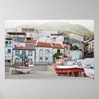 Harbour of Vila Franca do Campo Poster