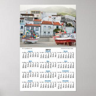 Harbour of Vila Franca do Campo Print