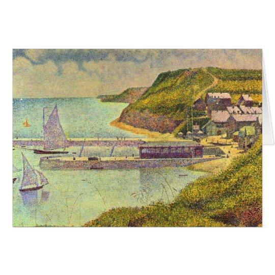 Harbour Port-en-Bessin High Tide by Georges Seurat Card