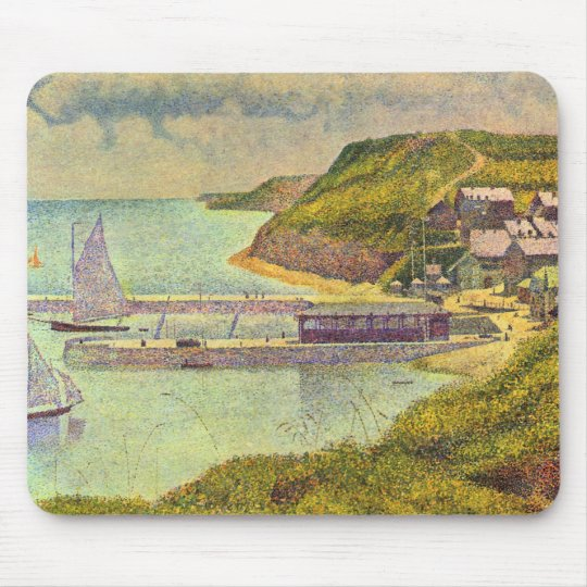 Harbour Port-en-Bessin High Tide by Georges Seurat Mouse Pad