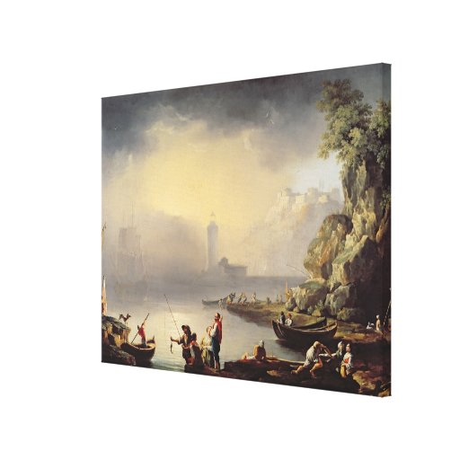 Harbour Scene Canvas Print