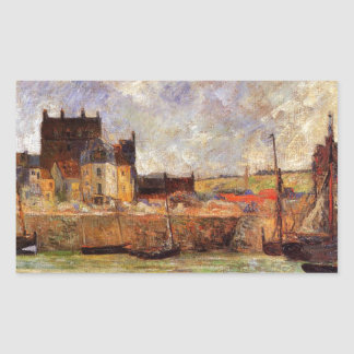 Harbour Scene, Dieppe by Paul Gauguin Rectangular Sticker