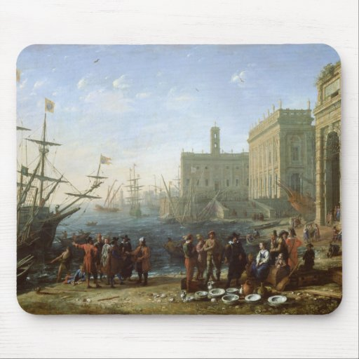 Harbour Scene Mouse Pad