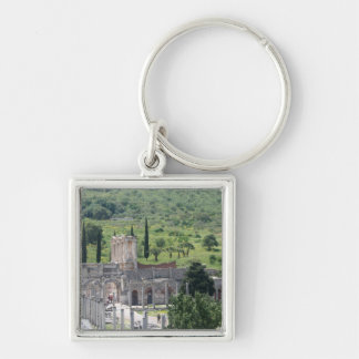 Harbour Street Towards Celsus Library, Ephesus Keychain