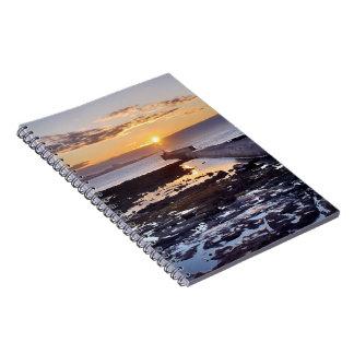 Harbour sunset -  spiral bound notebook