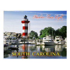 Harbour Town Lighthouse, Hilton Head Island, Sc Postcard at Zazzle