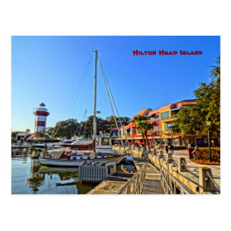 Harbour Town Lighthouse - Hilton Head Island SC Postcard
