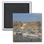 Harbour, Whitby, North Yorkshire, England 2 Inch Square Magnet