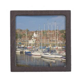 Harbour, Whitby, North Yorkshire, England Keepsake Box