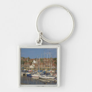 Harbour, Whitby, North Yorkshire, England Keychain