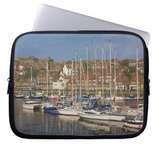 Harbour, Whitby, North Yorkshire, England Laptop Sleeves