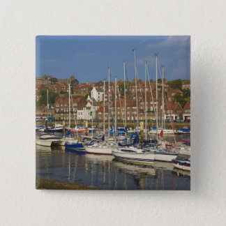 Harbour, Whitby, North Yorkshire, England Pinback Button