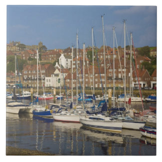 Harbour, Whitby, North Yorkshire, England Large Square Tile