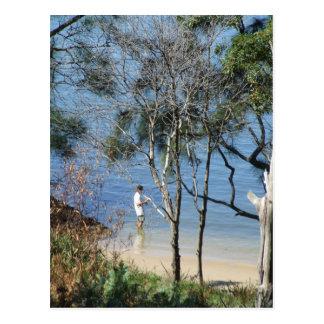 Harbourside Fishing Postcard