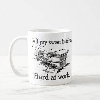hard at work coffee mug
