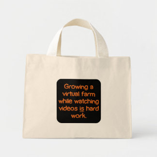 Hard at work (sq) tote bag