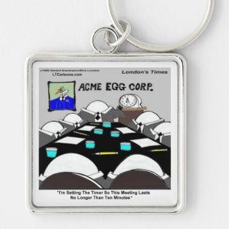 Hard-Boiled Corporate Meeting Funny Keychain