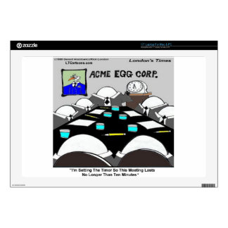 Hard-Boiled Corporate Meeting Funny Laptop Skins