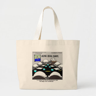 Hard-Boiled Corporate Meeting Funny Large Tote Bag