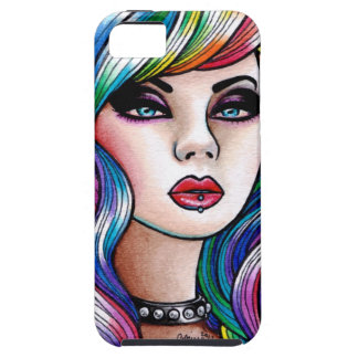 Hard Candy 2 - Rainbow Pin Up Portrait iPhone SE/5/5s Case