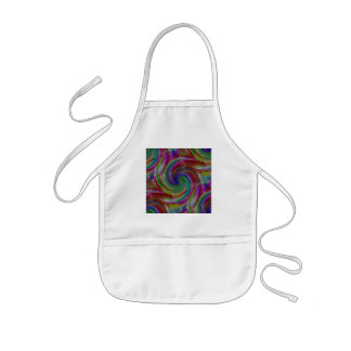Hard candy color swirls reminds of holiday past kids' apron