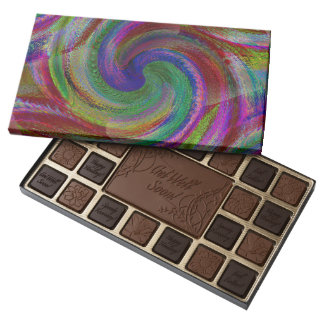 Hard candy color swirls reminds of holiday past 45 piece box of chocolates