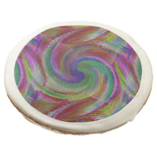 Hard candy color swirls reminds of holiday past sugar cookie