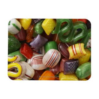 Hard candy, full frame rectangular photo magnet